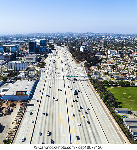 aerial of Los Angeles - csp10077120