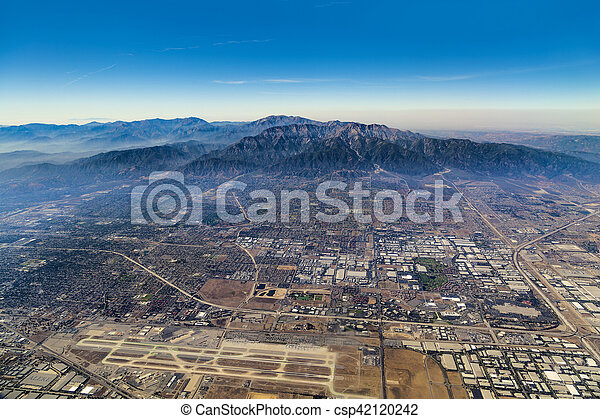 aerial of Los Angeles - csp42120242