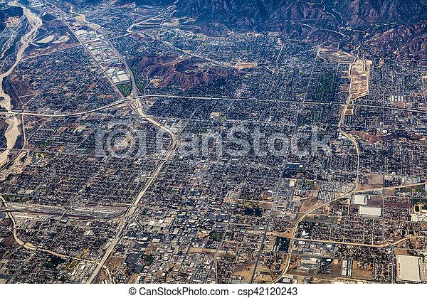 aerial of Los Angeles - csp42120243