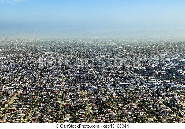 aerial of Los Angeles - csp45168044