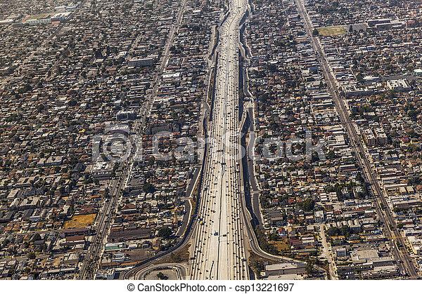 aerial of Los Angeles - csp13221697