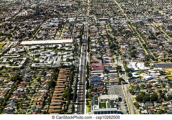 aerial of Los Angeles - csp10262500