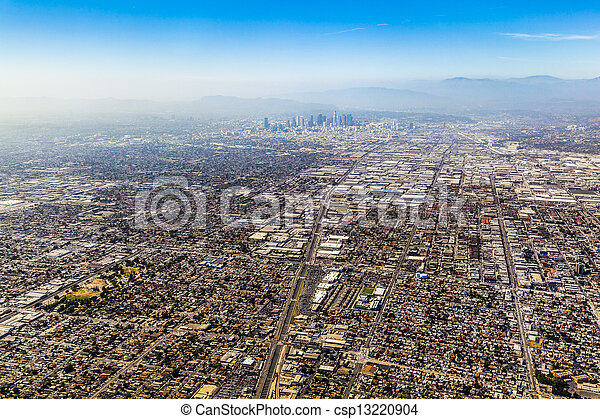 aerial of Los Angeles - csp13220904