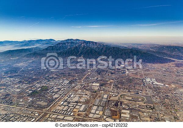 aerial of Los Angeles - csp42120232