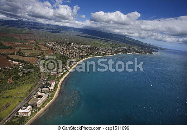 Aerial of Maui coast. - csp1511096