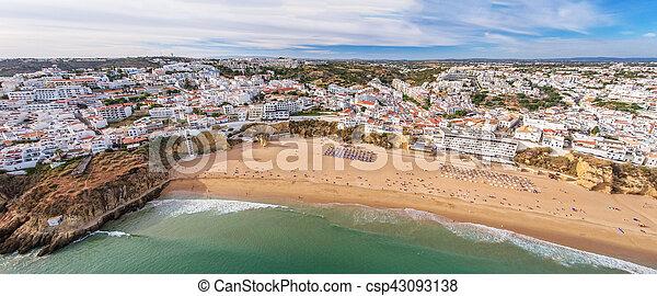 Aerial. Panorama of Albufeira in Algarve region, Portugal. - csp43093138