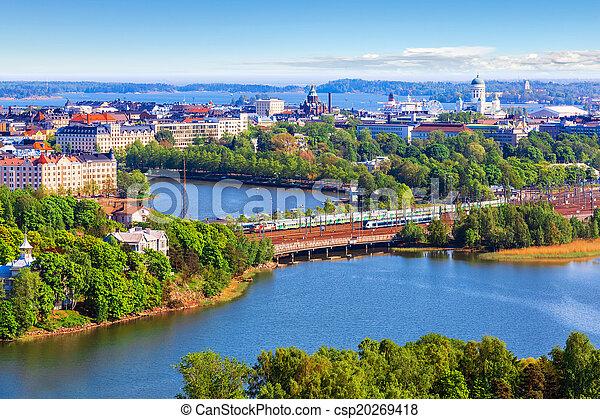 Aerial panorama of Helsinki, Finland - csp20269418