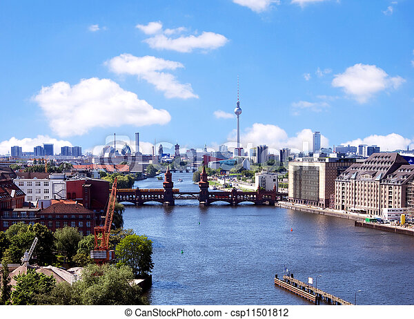 aerial photo berlin skyline - csp11501812