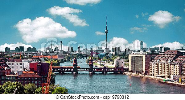 aerial photo berlin skyline - csp19790312
