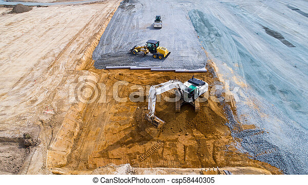 Aerial photo of a construction site - csp58440305