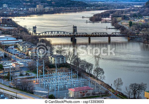 Aerial River View - csp13393693