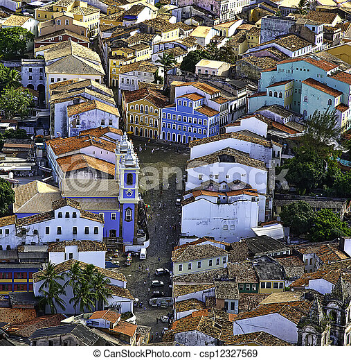 aerial Salvador Bahia Brazil - csp12327569