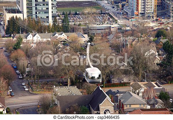 Aerial tram, Portland Oregon. - csp3466435