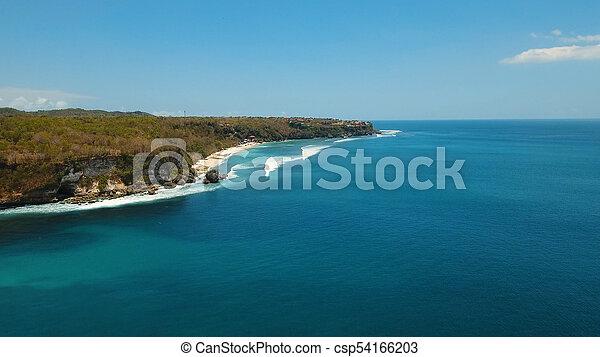 Aerial View Beautiful Beach Bali