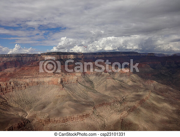Aerial view grand canyon - csp23101331