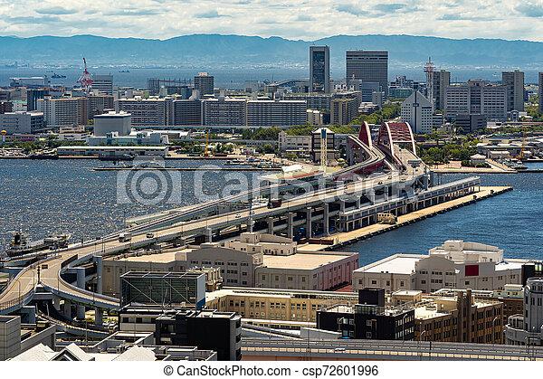Aerial view Kobe Japan - csp72601996