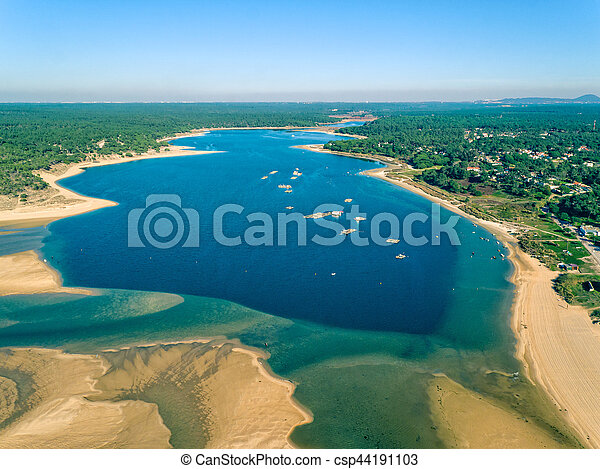 Aerial View Lagoa de Albufeira - csp44191103