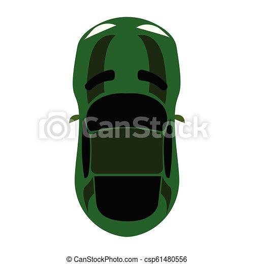 aerial view of a car - csp61480556