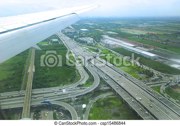 Aerial View of a Highway - csp15486844