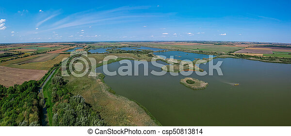 Aerial view of a lake - csp50813814