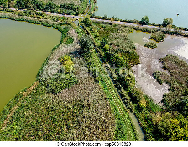 Aerial view of a lake - csp50813820