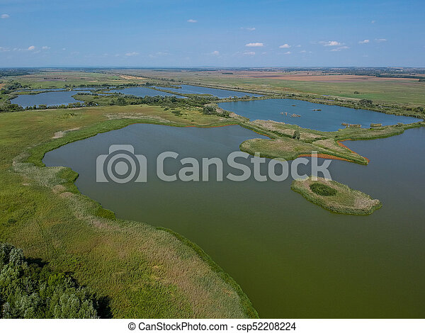 Aerial view of a lake - csp52208224