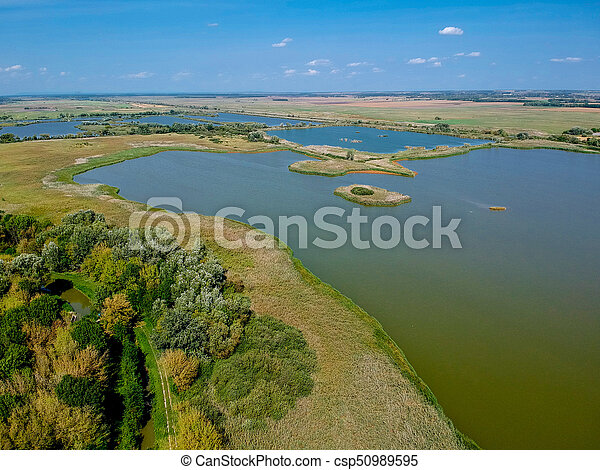 Aerial view of a lake - csp50989595