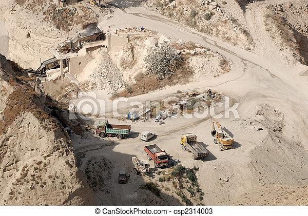 Aerial view of a mine - csp2314003