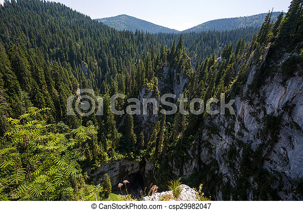 Aerial view of a mountain landscape - csp29982047
