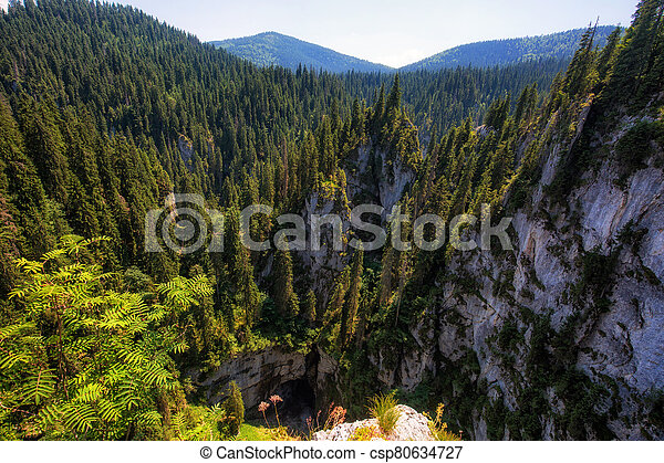 Aerial view of a mountain landscape - csp80634727