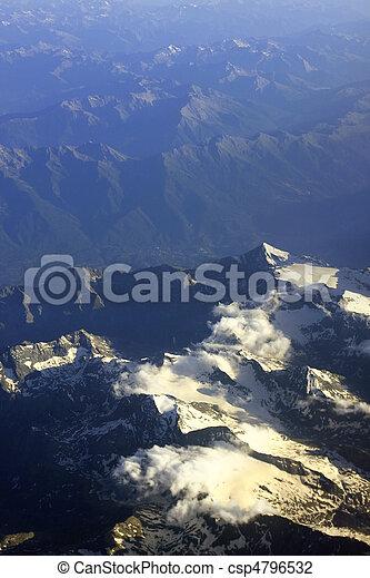 Aerial view of a mountain range - csp4796532