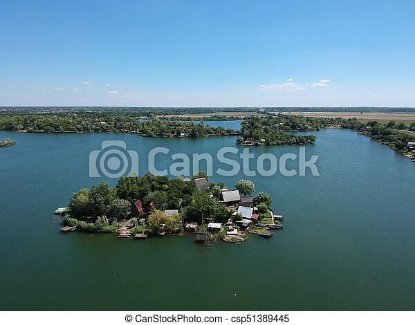 Aerial view of a Small island - csp51389445