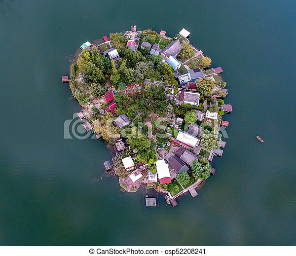 Aerial view of a Small island - csp52208241