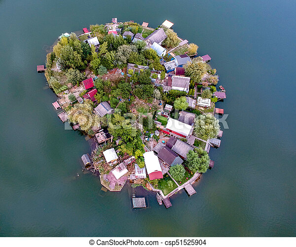 Aerial view of a Small island - csp51525904