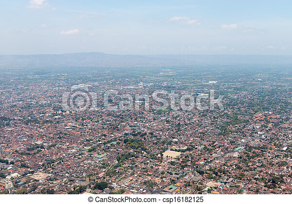 Aerial view of a town - csp16182125