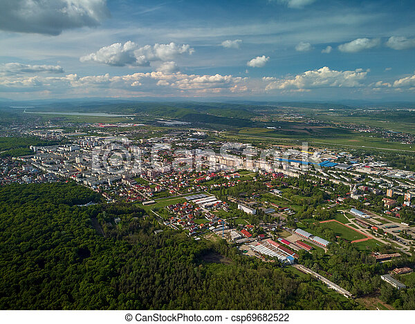 Aerial view of a town - csp69682522