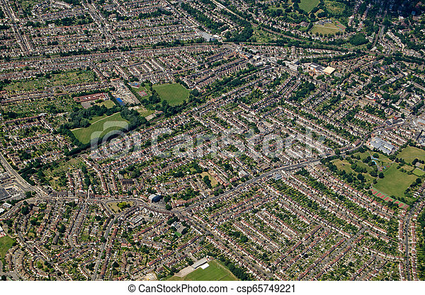 Aerial View of Beckenham, South London - csp65749221