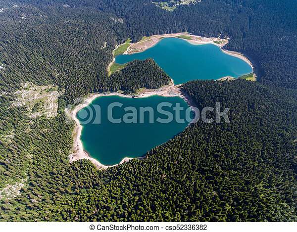 Aerial view of Black Lake in Montenegro - csp52336382