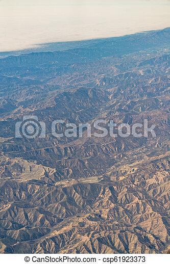 aerial view of California San Andreas - csp61923373
