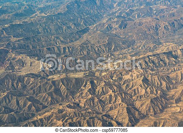 aerial view of California San Andreas - csp59777085