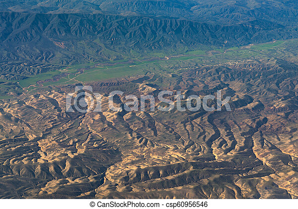 aerial view of California San Andreas - csp60956546