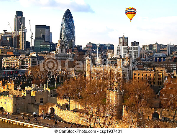 Aerial view of City of London - csp1937481
