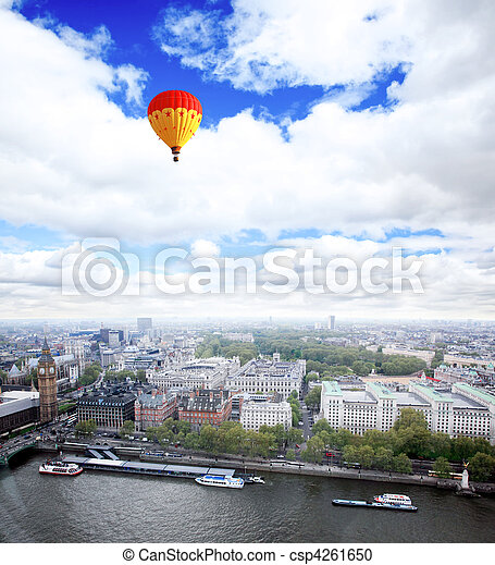 Aerial view of city of London - csp4261650