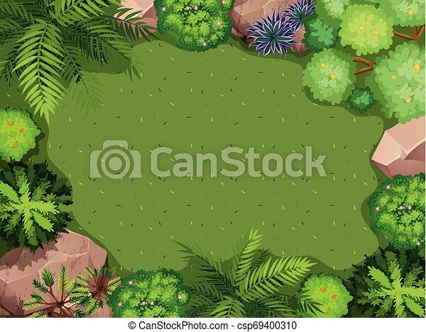 Aerial view of garden - csp69400310