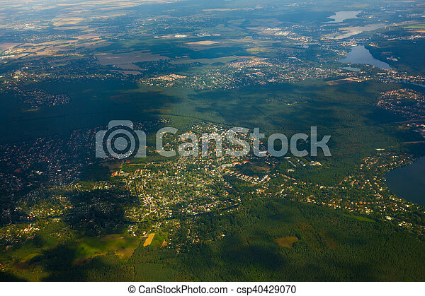 Aerial view of German agricultural - csp40429070