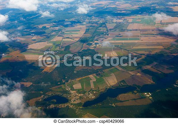 Aerial view of German agricultural - csp40429066