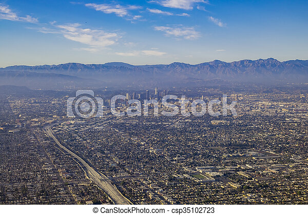 Aerial view of great Los Angeles area - csp35102723