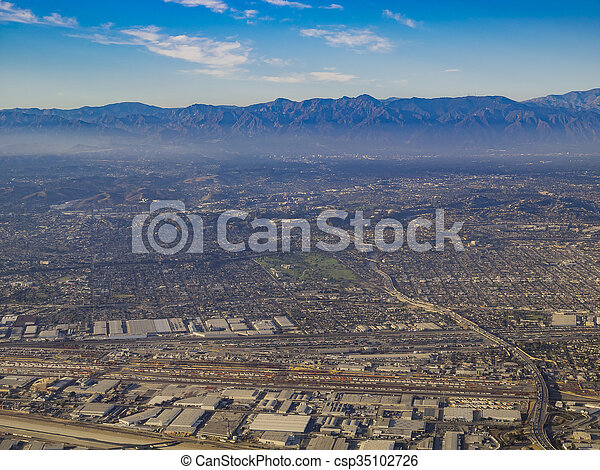 Aerial view of great Los Angeles area - csp35102726