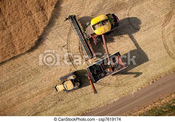 Aerial View of Harvest - csp7619174