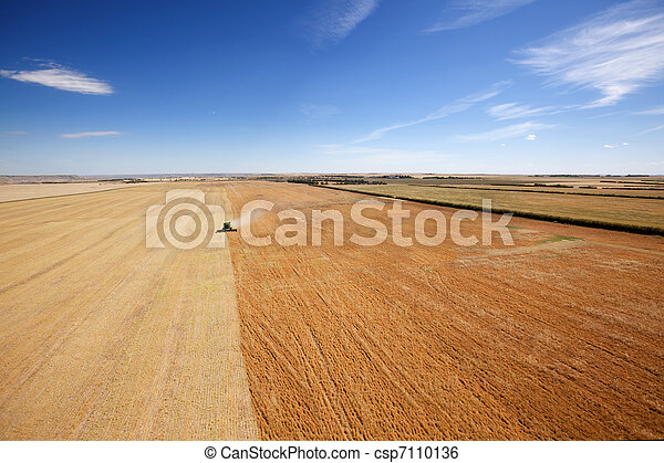 Aerial View of Harvesting - csp7110136